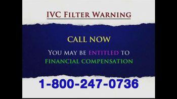Levy Phillips & Konigsberg TV Spot, 'IVC Filter Warning'