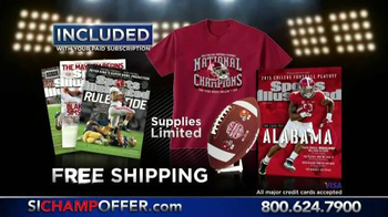 Sports Illustrated Championship Package TV Spot, 'Alabama Crimson Tide'