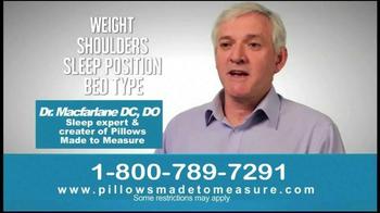 Pillows Made to Measure TV Spot, 'Better Night's Sleep' - Thumbnail 6