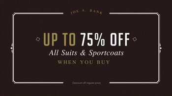 JoS. A. Bank Buy More Save More Sale TV Spot, 'Suits and Sportcoats' - Thumbnail 2