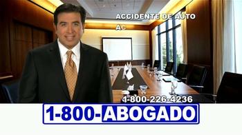 1-800-ABOGADO TV Spot, 'Cualquier accidente' [Spanish] - Thumbnail 4