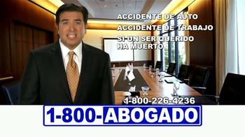 1-800-ABOGADO TV Spot, 'Cualquier accidente' [Spanish] - Thumbnail 7