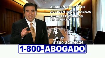 1-800-ABOGADO TV Spot, 'Cualquier accidente' [Spanish]