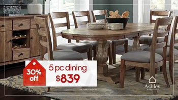 Ashley Homestore Red Tag Sale TV Spot, 'Dining Set & Queen Bed' - Thumbnail 7