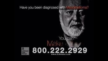 Johnson Law Group TV Spot, 'Mesothelioma Diagnosis' - Thumbnail 3