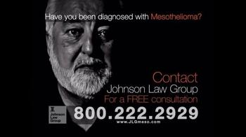 Johnson Law Group TV Spot, 'Mesothelioma Diagnosis' - Thumbnail 8