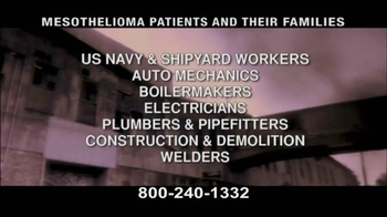 Pulaski & Middleman TV Spot, 'Mesothelioma Patients: Thousands of Workers' - Thumbnail 5