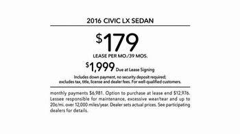 2016 Honda Civic TV Spot, 'The Dreamer: Fantasy' Song by Empire of the Sun - Thumbnail 8