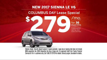Toyota Columbus Day Lease Special TV Spot, 'Safety Is Key' - Thumbnail 9