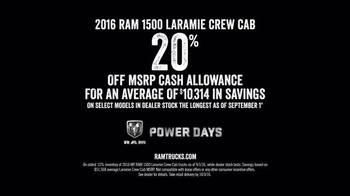 Ram Trucks Power Days TV Spot, '2016 1500 Laramie Crew Cab: Depend on This' - Thumbnail 6