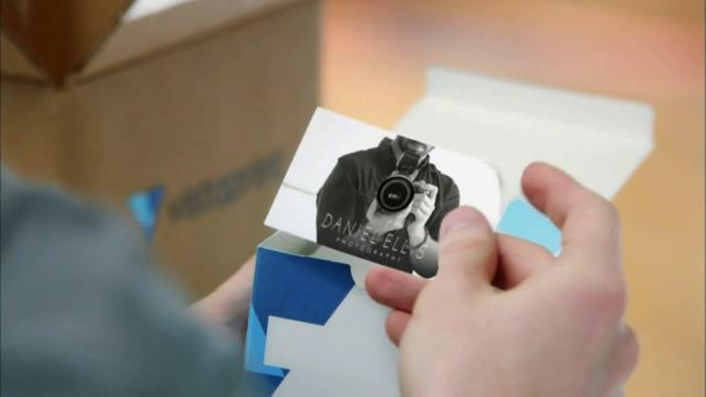 Vistaprint specialty cards tv commercial photographer ispot reheart Choice Image