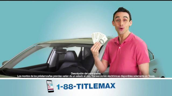 TitleMax TV Spot, 'Obtenga efectivo' [Spanish] - 381 commercial airings