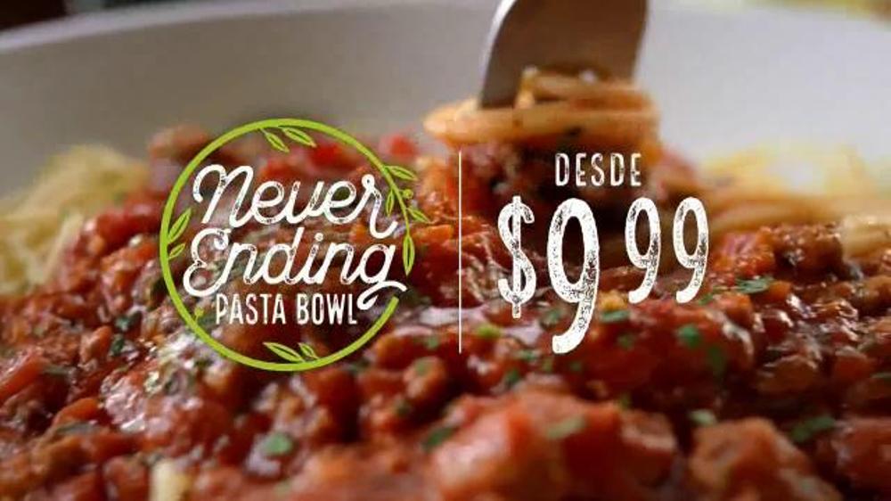 Olive Garden Never Ending Pasta Bowl TV Commercial, 'Combinaciones'