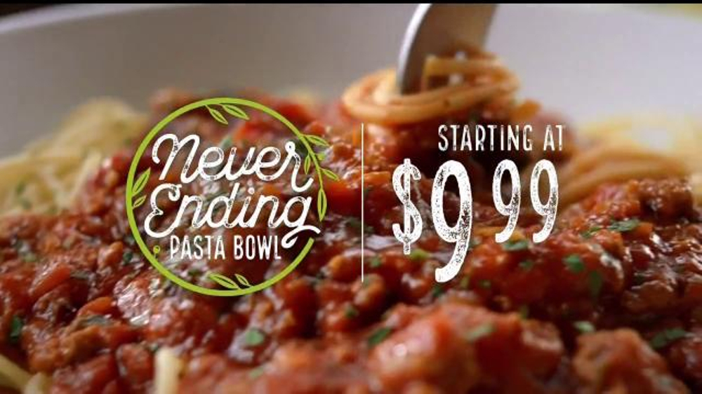 Olive Garden Never Ending Pasta Bowl TV Commercial, 'It's Back'