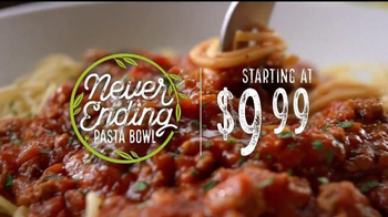 Olive Garden Never Ending Pasta Bowl TV Spot, 'It's Back'