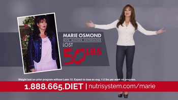 Nutrisystem Lean13 TV Spot, 'First Step' Feat. Marie Osmond, Dan Marino - 1920 commercial airings
