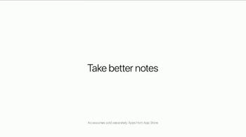 Apple iPad Pro TV Spot, 'Take Better Notes' - Thumbnail 5