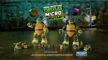 Teenage Mutant Ninja Turtles Micro Mutants TV Spot, 'Big in Battle'