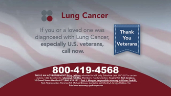 Sokolove Law TV Spot, 'Lung Cancer: Veterans' - Thumbnail 1