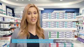 Sensodyne Deep Clean TV Spot, 'MediFacts: Lasting Freshness'