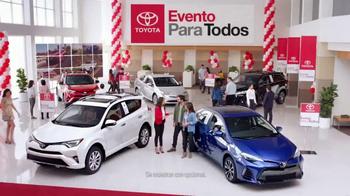 Toyota Evento Para Todos TV Spot, 'Todos los modelos: 2017 RAV4' [Spanish] [T2] - Thumbnail 1