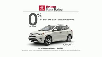 Toyota Evento Para Todos TV Spot, 'Todos los modelos: 2017 RAV4' [Spanish] [T2] - Thumbnail 7