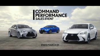 Lexus Command Performance Sales Event TV Spot, 'Thrilling Models' [T1] - Thumbnail 5