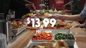Golden Corral Weekend Fresh Fire Grill TV Spot, 'Friday-Sunday' - Thumbnail 6