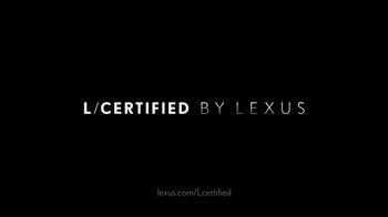 L/Certified by Lexus TV Spot, 'Confidence' [T1] - Thumbnail 8