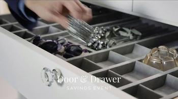 California Closets Door & Drawer Savings Event TV Spot, 'Custom System' - Thumbnail 1