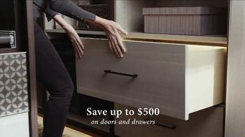 California Closets Door & Drawer Savings Event TV Spot, 'Custom System' - Thumbnail 3