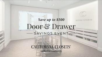 California Closets Door & Drawer Savings Event TV Spot, 'Custom System' - Thumbnail 6