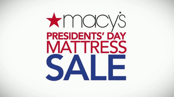 Macy's Presidents Day Mattress Sale TV Spot, 'Last Days to Save' - Thumbnail 1