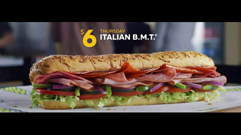Subway $6 Footlong Sub of the Day TV Spot, 'Lunchtime' - Thumbnail 6
