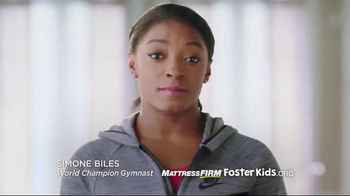 Mattress Firm Foster Kids Dollar Drive TV Spot, 'Team Up' Ft. Simone Biles