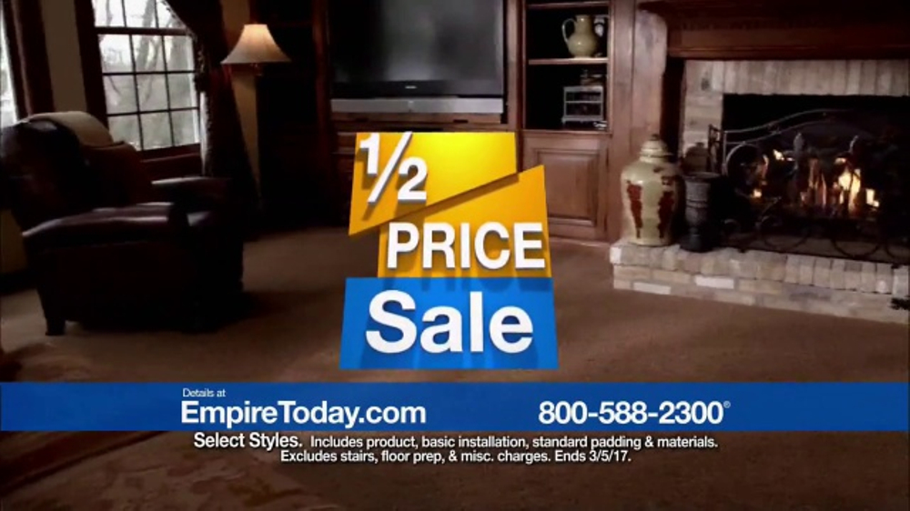 Empire Today Half Price Sale Tv Commercial Shop Right