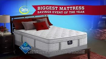 Sam's Club Biggest Mattress Savings Event of the Year TV Spot, 'Serta' - 738 commercial airings
