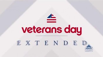 Ashley Furniture Homestore Veterans Day Sale TV Spot, 'Extended'