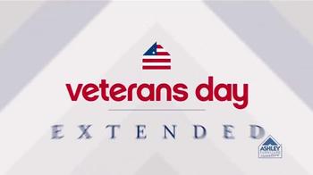 Ashley Furniture Homestore Veterans Day Sale TV Spot, 'Extended'