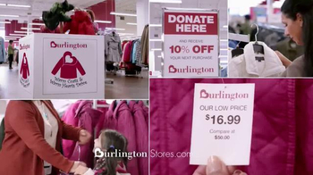 Burlington Coat Factory TV Spot, 'Donate a Coat and Save 10%' - 2568 commercial airings
