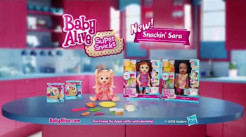 Baby Alive Super Snacks Snackin' Sara TV Spot, 'Stink-A-Roo' - Thumbnail 9