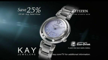 Kay Jewelers TV Spot, 'Memorable Holiday: Save 25% on Citizen Watches' - Thumbnail 8