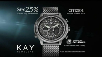 Kay Jewelers TV Spot, 'Memorable Holiday: Save 25% on Citizen Watches' - Thumbnail 9