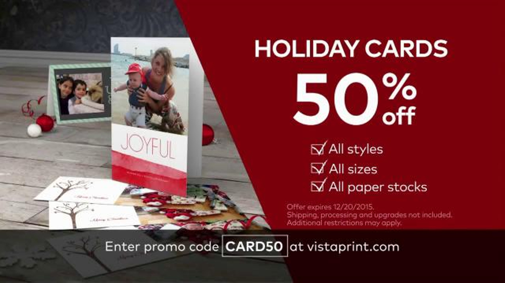 vistaprint holiday cards tv commercial perfect moments ispottv - Vistaprint Holiday Cards