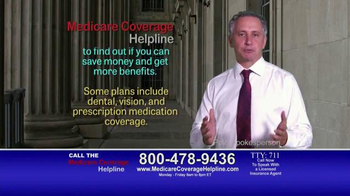 Medicare Coverage Helpline TV Spot, 'Save Money'