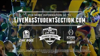 Taco Bell 2015 College Football Playoff TV Spot, 'Live Mas Student Section' - Thumbnail 4