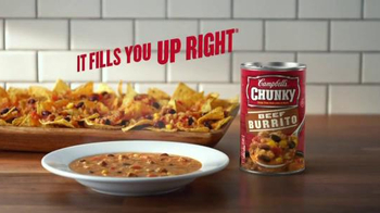 Campbell's Chunky Beef Burrito Soup TV Spot, 'The Flavor You Love' - Thumbnail 9