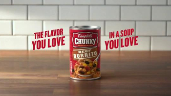 Campbell's Chunky Beef Burrito Soup TV Spot, 'The Flavor You Love' - Thumbnail 6