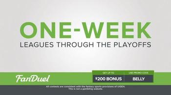 FanDuel One-Week Fantasy Football Leagues TV Spot, 'Keep Your Season Alive' - Thumbnail 1