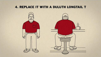 Duluth Trading Company LongTail T Shirt TV Spot, 'How to Un-Plumber a Butt' - Thumbnail 5